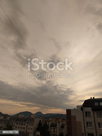Sunrise And Sunset Over The Hills And Town Stock Photo & More Pictures of Autumn