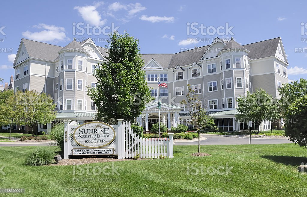 Sunrise Assisted Living stock photo