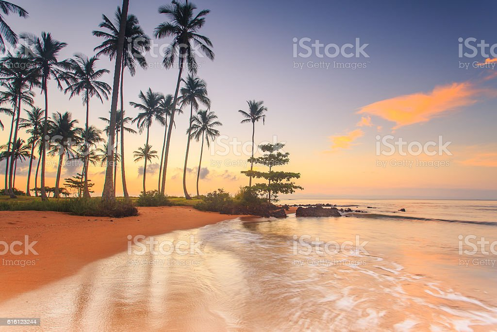 Sunrise at a brazilian beach stock photo
