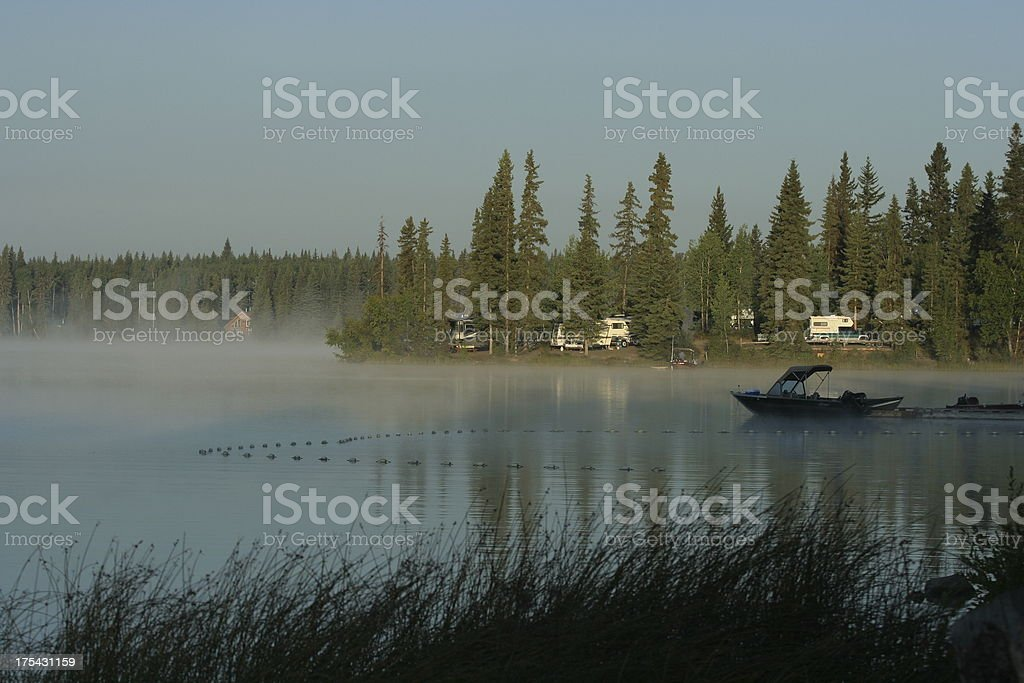 Sunrise at a Campground royalty-free stock photo