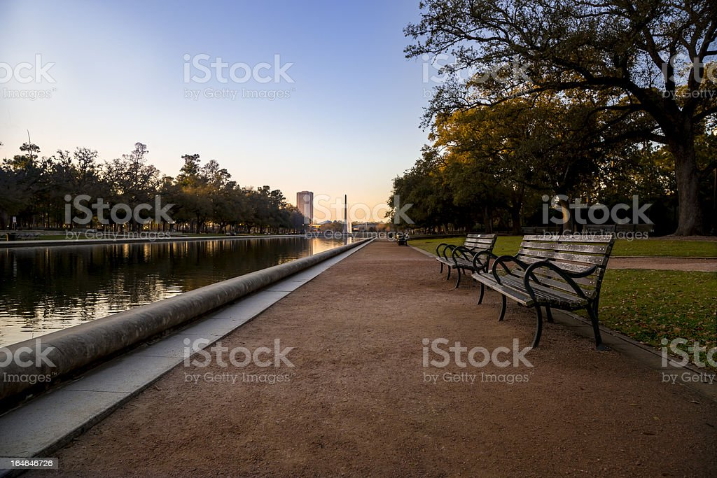 sunrise at a park royalty-free stock photo