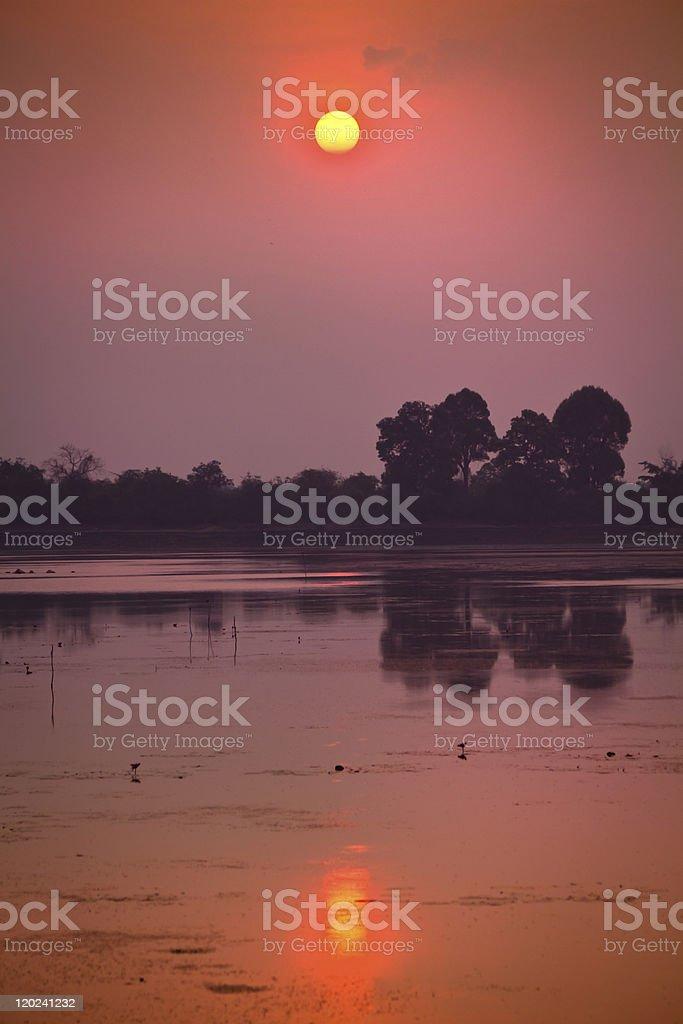 Sunrise at Angkor Wat, Cambodia stock photo