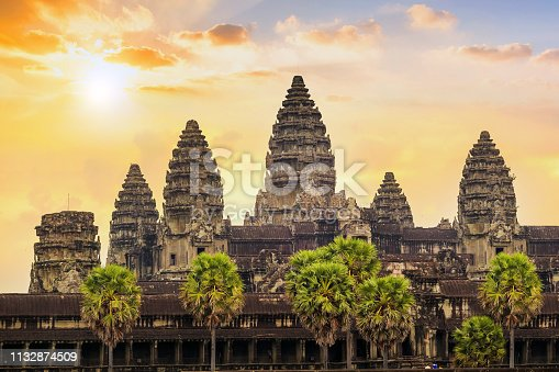 Beautiful sunrise at Ankor Wat, Siem Reap, Cambodia