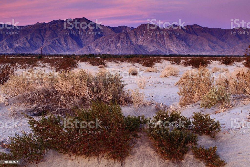 Sunrise at Anza-Borrego Desert State Park stock photo
