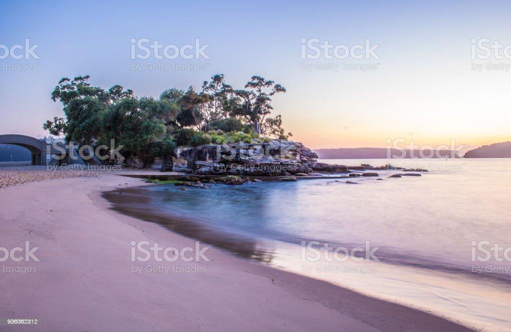Sunrise at Balmoral Beach, Mosman, Sydney stock photo