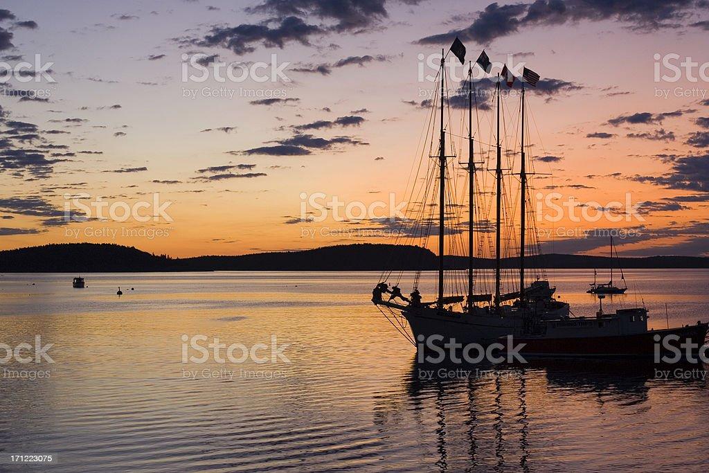 Sunrise at Bar Harbor royalty-free stock photo