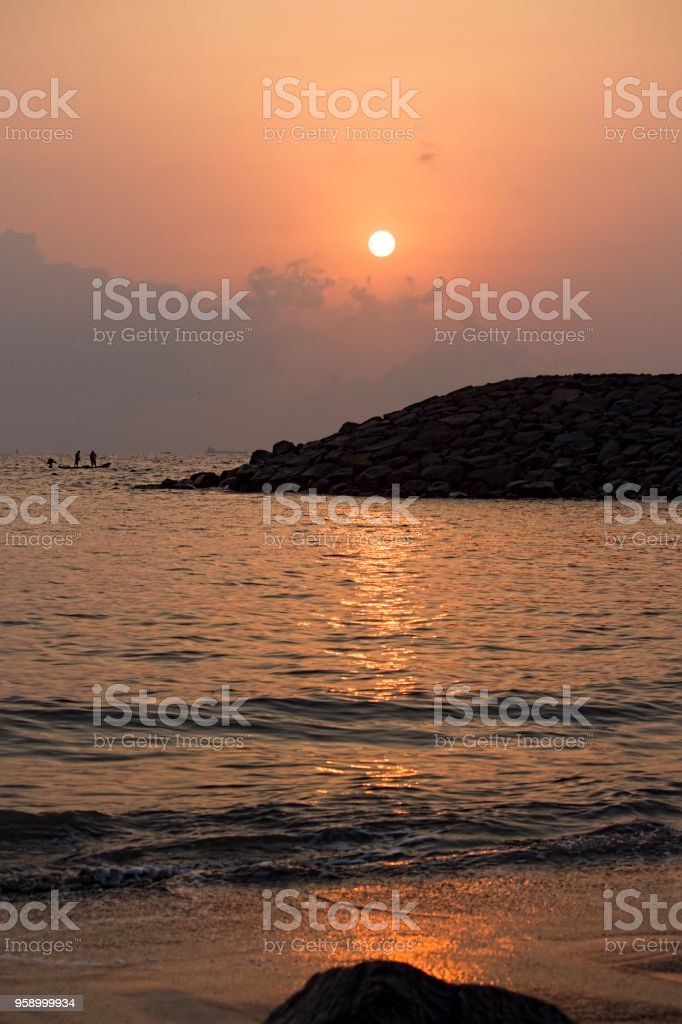 Sunrise At Bay Of Bengal stock photo