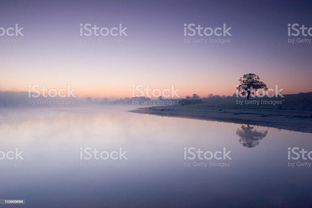 Sunrise at Blithfield royalty-free stock photo