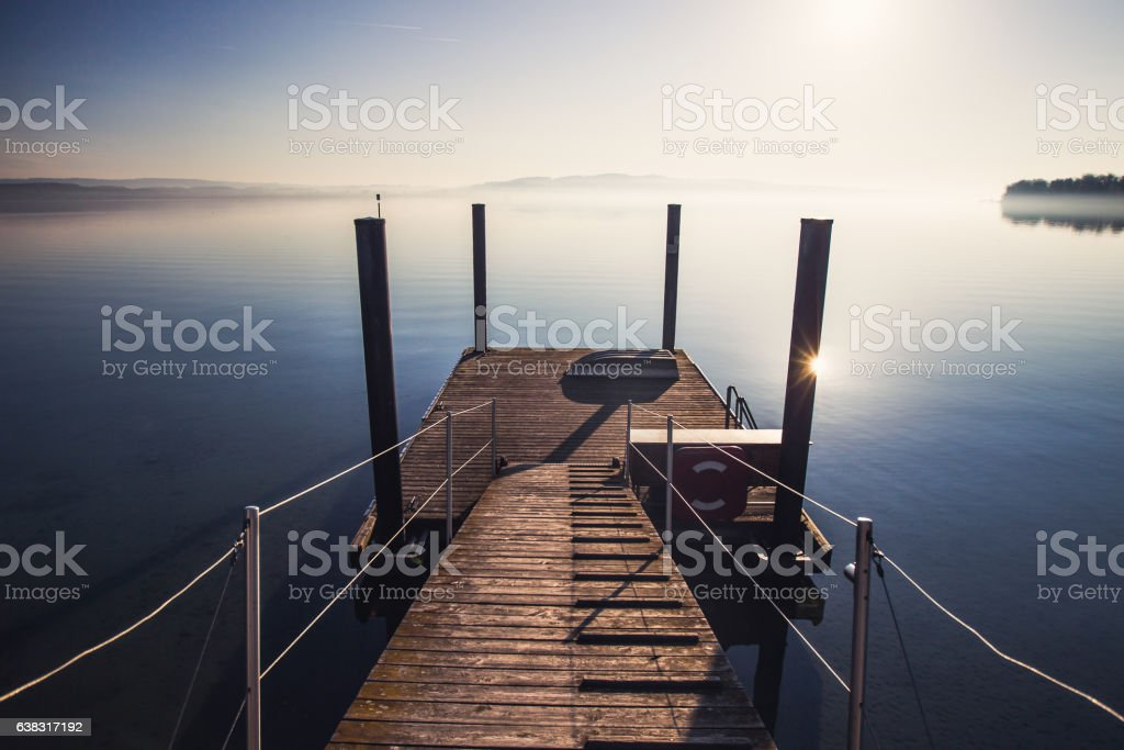 Sunrise at Bodensee lake in Germany – Foto