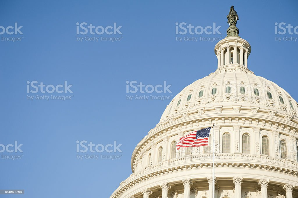 Sunrise at Capitol Hill in Washington DC stock photo