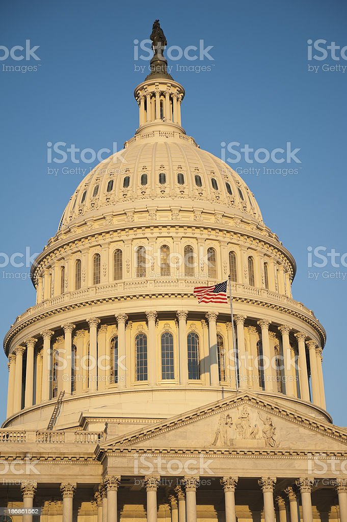 Sunrise at Capitol Hill in Washington DC royalty-free stock photo