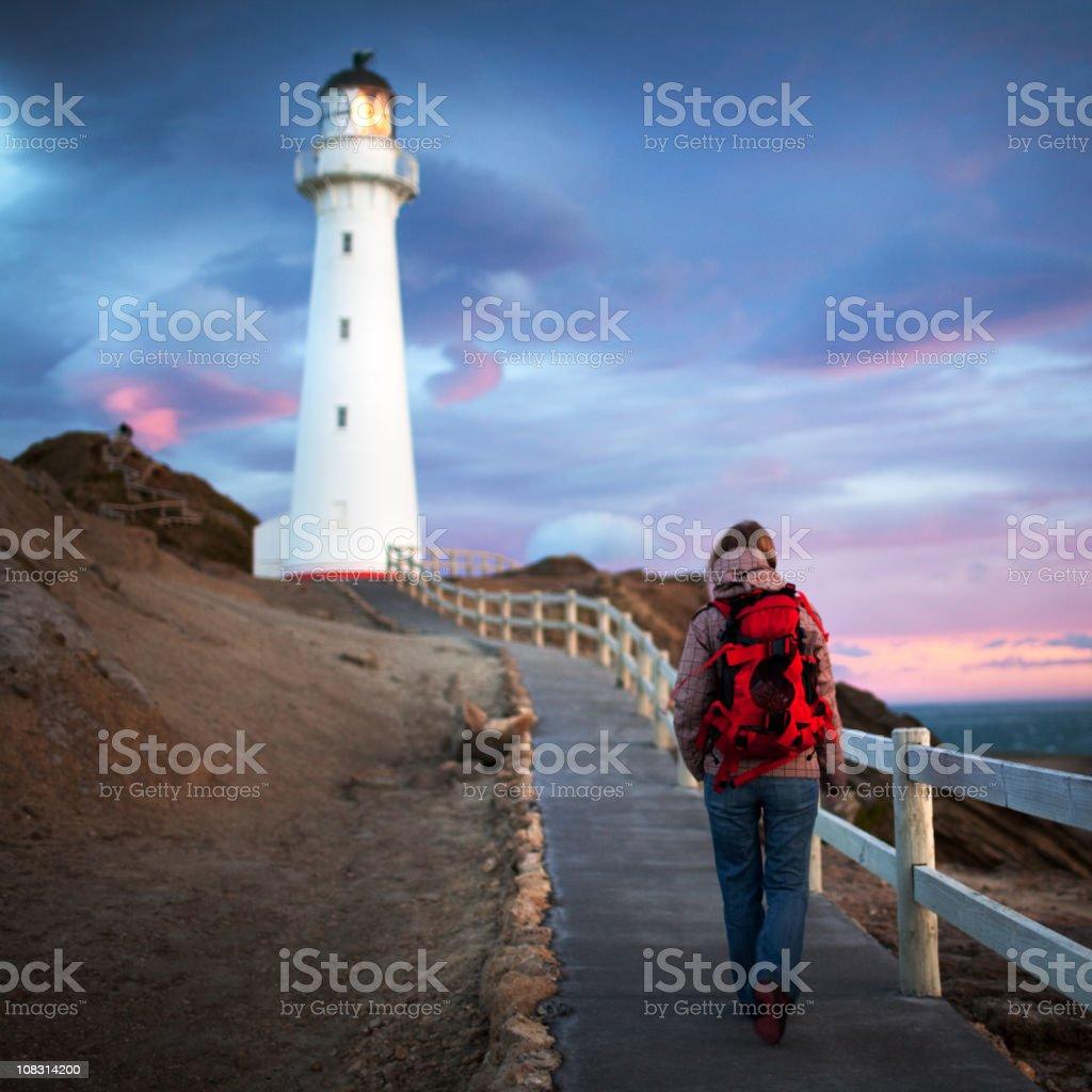Sunrise at Castlepoint, New Zealand stock photo