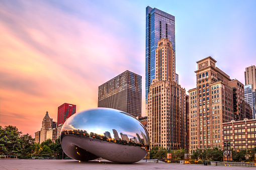 Chicago, USA - July 2015: The sculpture \