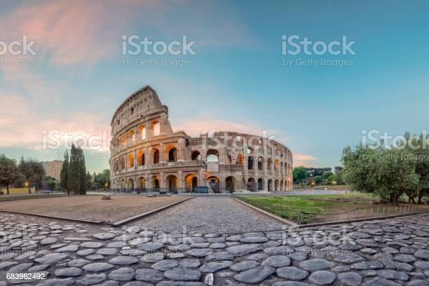 Capital Cities, Famous Place, Sunrise - Dawn, Coliseum, No people, Europe