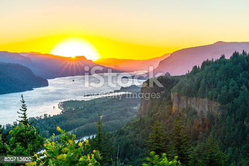 Sunrise view from crown point