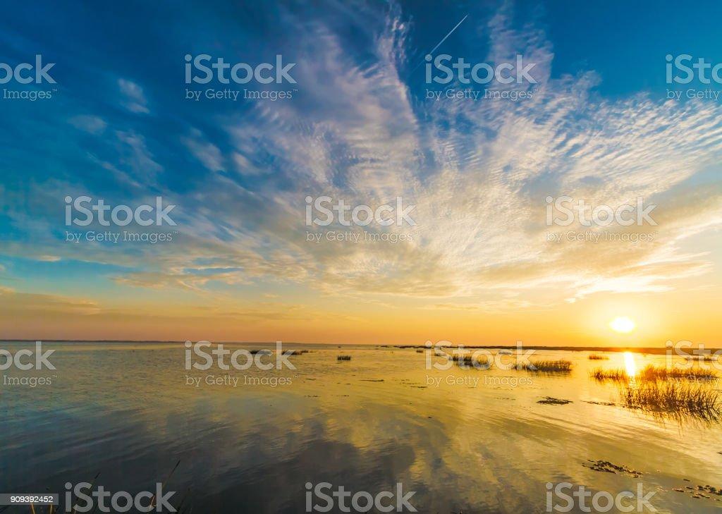 Sonnenaufgang am Donaudelta, Sulina, Rumänien – Foto