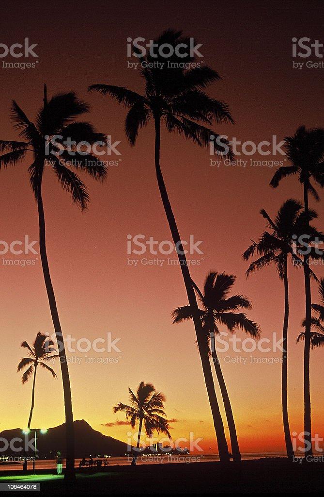 Sunrise at Diamond Head royalty-free stock photo