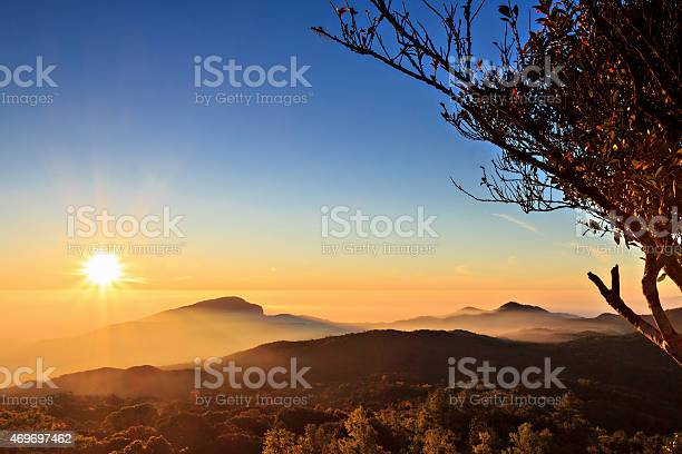 Sunrise At Doi Inthanon Chiang Mai Thailand Stock Photo - Download Image Now
