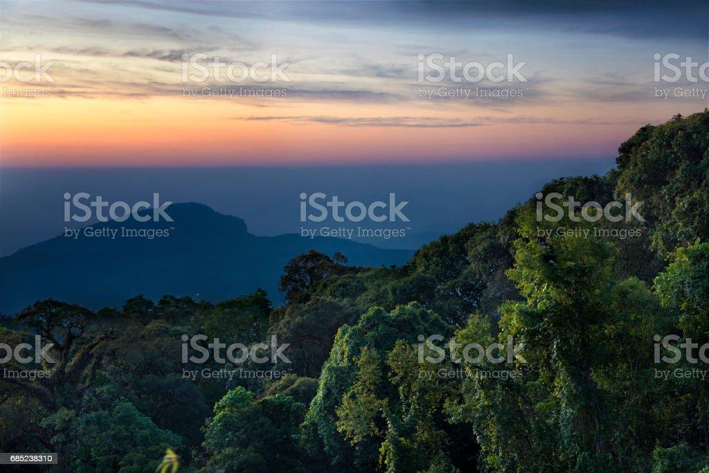 Sunrise at Doi Inthanon royalty-free stock photo