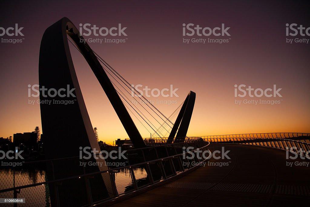 Sunrise at Elizabeth Quay stock photo