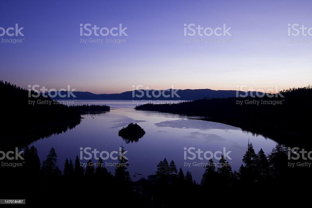Sunrise at Emerald Bay Lake Tahoe royalty-free stock photo