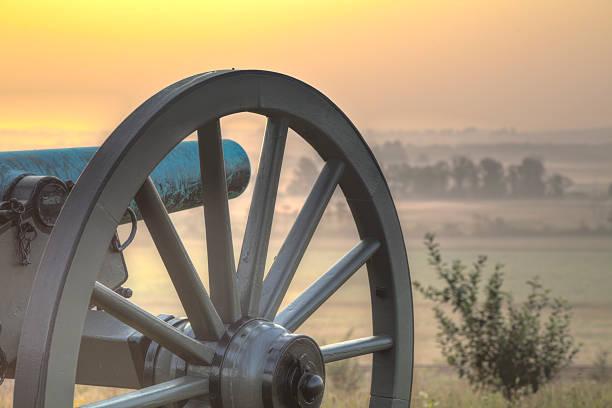 Sunrise at Gettysburg 2 stock photo