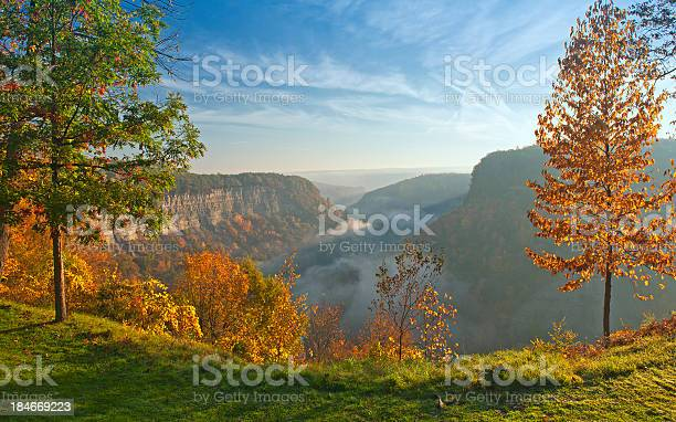 Sunrise At Great Bend Overlook Stock Photo - Download Image Now
