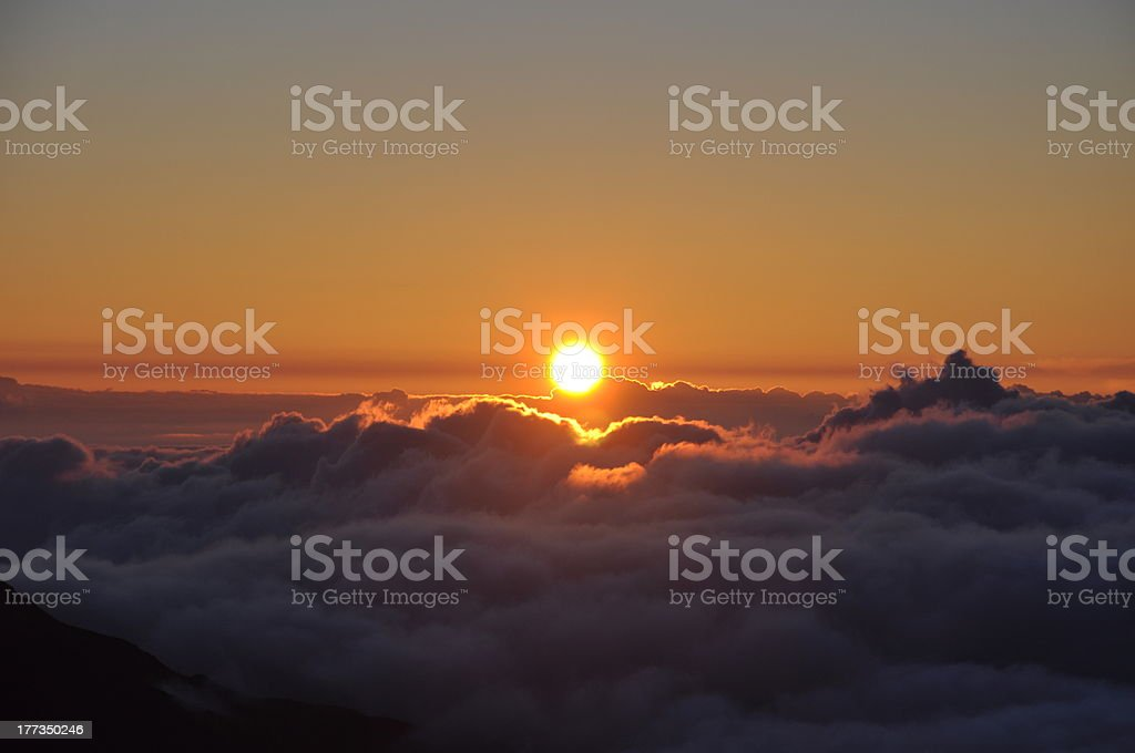 Sunrise at Haleakala Crater - Maui, Hawaii stock photo