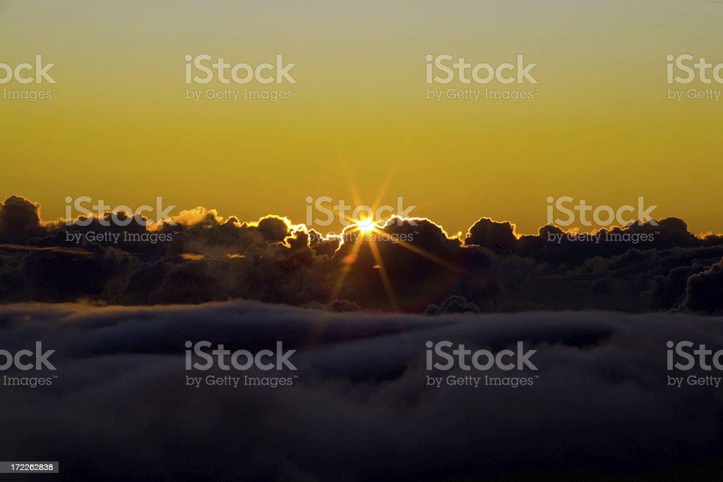 Sunrise At Haleakala royalty-free stock photo