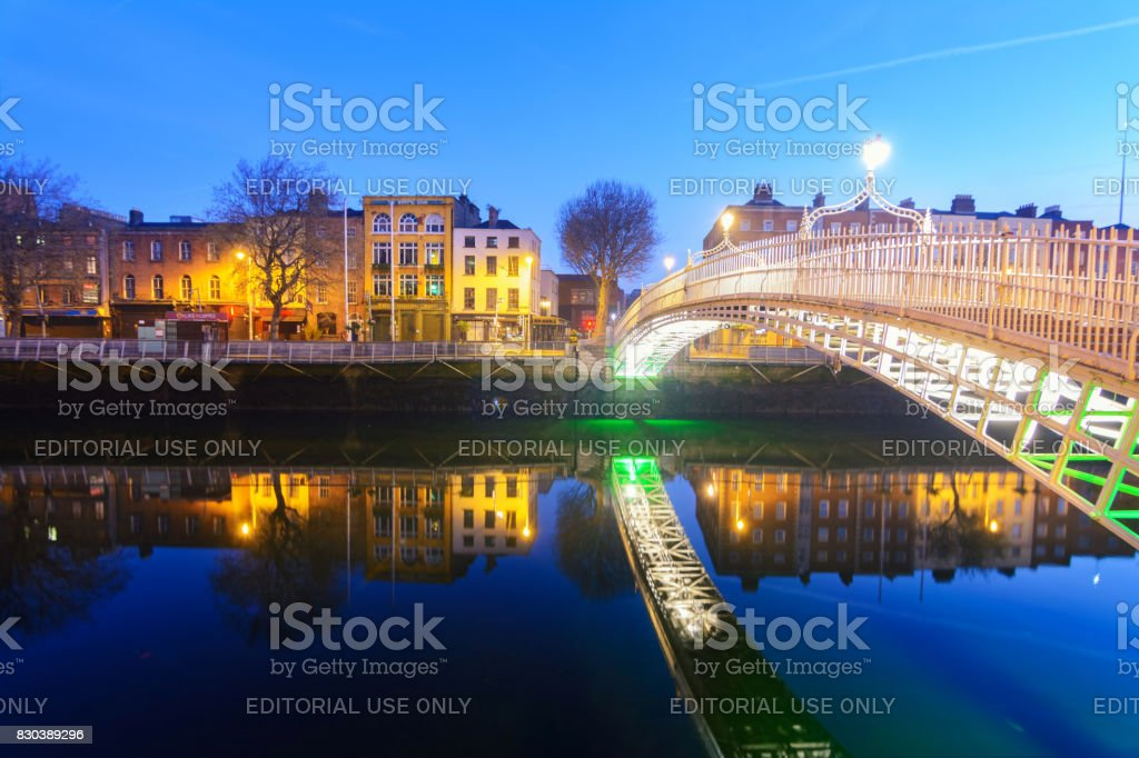 sunrise at happeny bridge view, Dublin stock photo