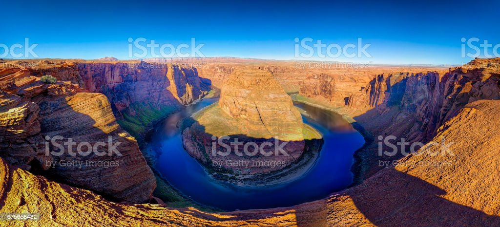 Sunrise at Horseshoe Bend, AZ royalty-free stock photo