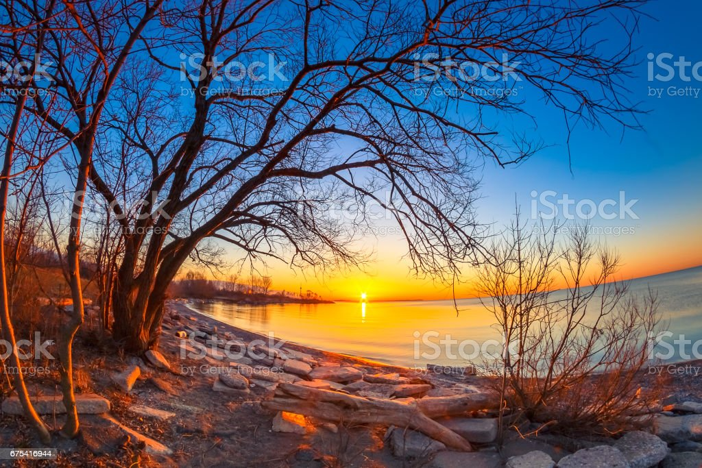 Sunrise at Humber Bay Park photo libre de droits