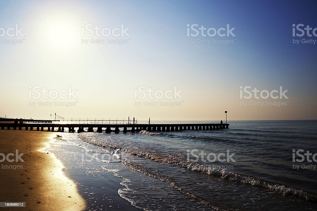 Sunrise at Jesolo. Color Image royalty-free stock photo