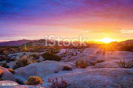 Sunrise at Joshua Tree National Park. California, USA. October 2016