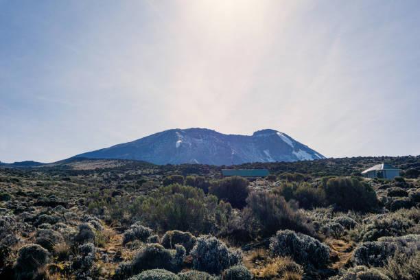 Sunrise at Kilimanjaro with glacier - Tanzania stock photo stock photo