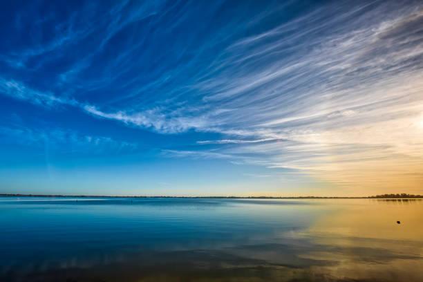 Sunrise at Lake Boga stock photo