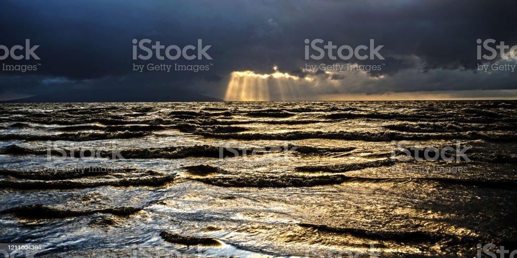 sonnenaufgang am nicaragua see - Lizenzfrei Beschaulichkeit Stock-Foto