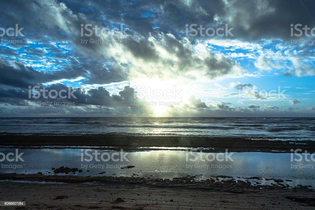 Sunrise at Lihue, Kauai, Hawaii stock photo