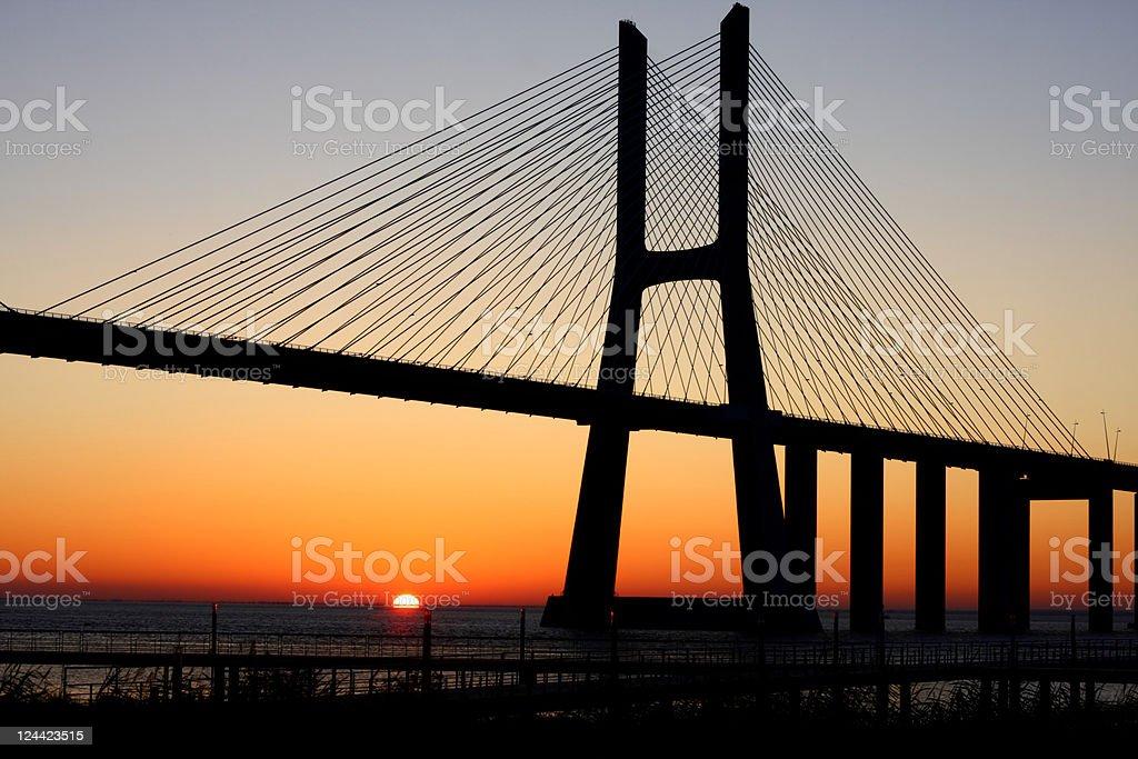 Sunrise at Lisbon royalty-free stock photo