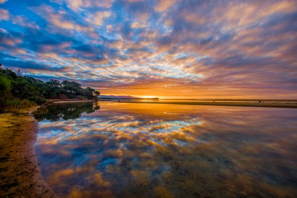 Sunrise at Mallacoota stock photo