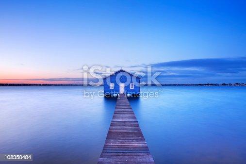Matilda Bay boathouse in Perth, Australia.
