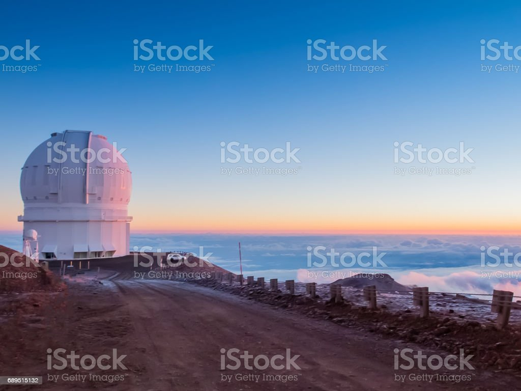 Sunrise at Mauna kea stock photo