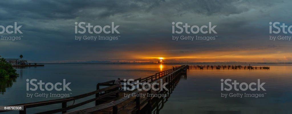 Sunrise at Merritt Island, Florida stock photo