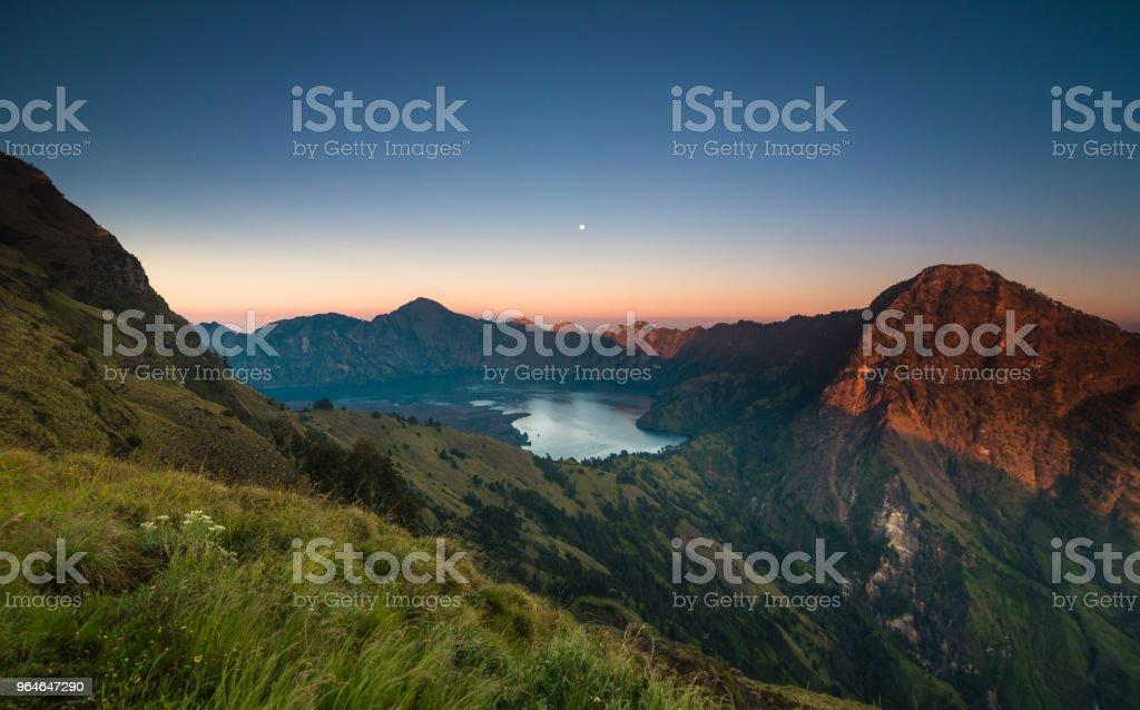 Sunrise at Mount Rinjani royalty-free stock photo