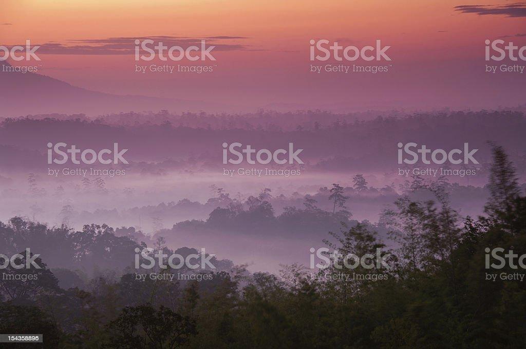Sunrise at mountain. royalty-free stock photo