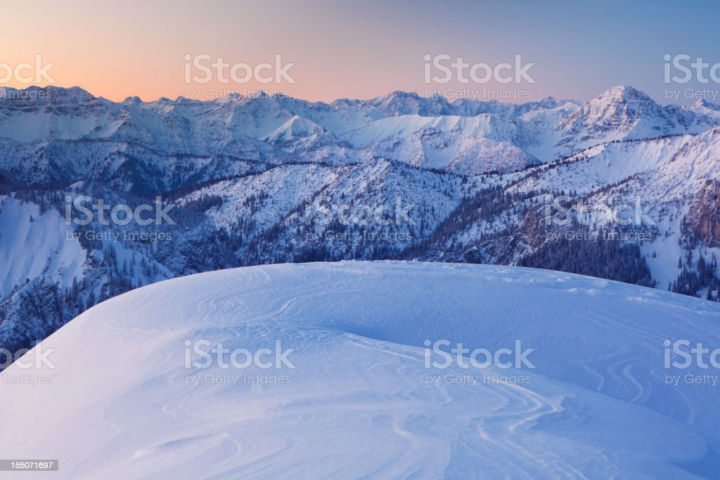 sunrise at mt. tegelberg, bavarian alps, germany royalty-free stock photo