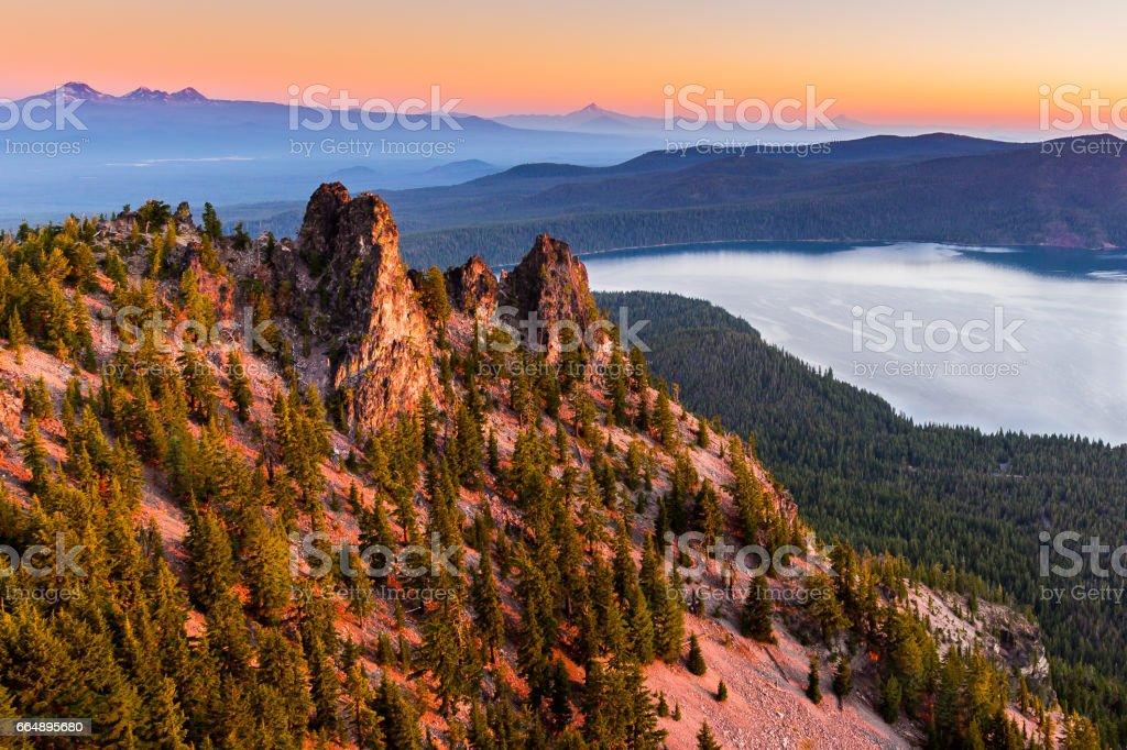Sunrise at Paulina Peak foto stock royalty-free