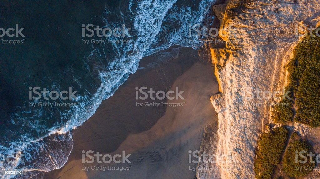 Sunrise at Santa Cruz. stock photo