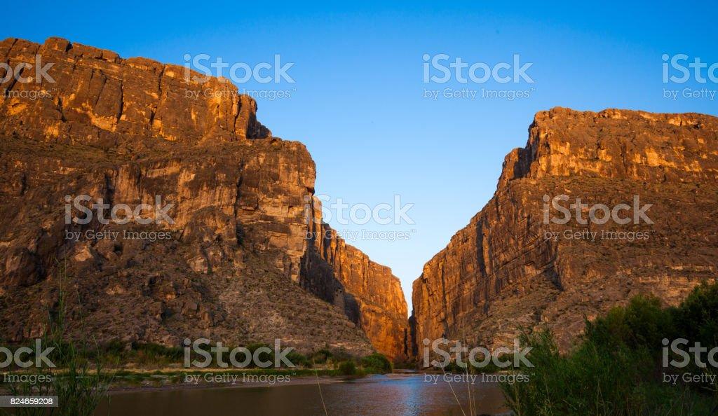 Sunrise at Santa Elena Canyon stock photo