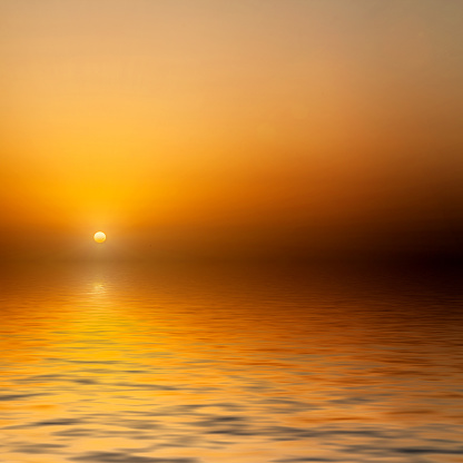 Sunrise At Sea Stock Photo - Download Image Now